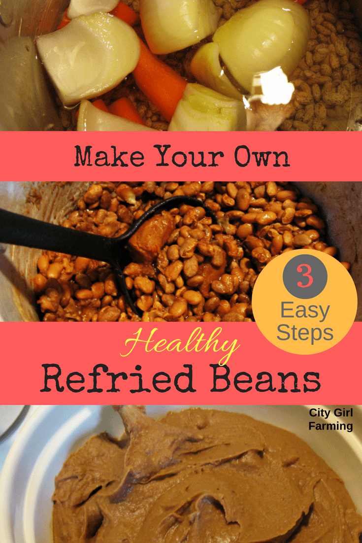 Make your own homemade refried beans. It's easy and tastes way better. Plus, there's no nasty ingredients!