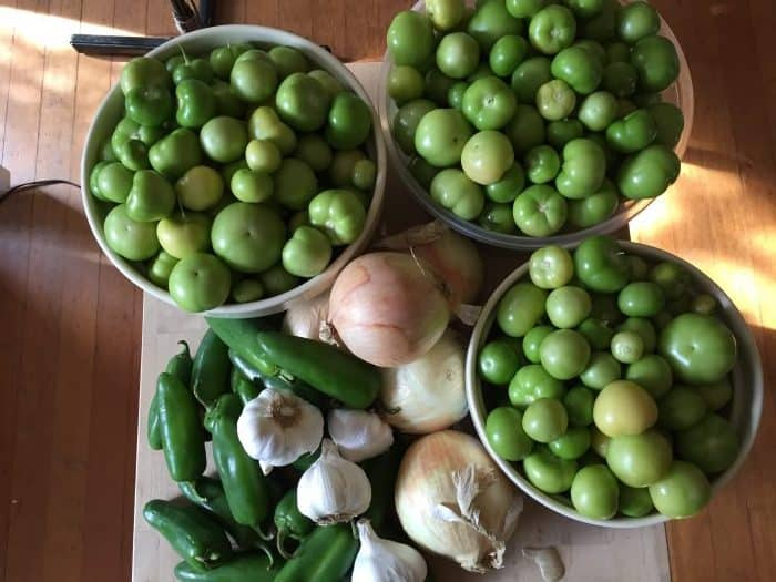 Delicious salsa verde recipe made with fresh garden ingredients. Can, freeze or refrigerate it.
