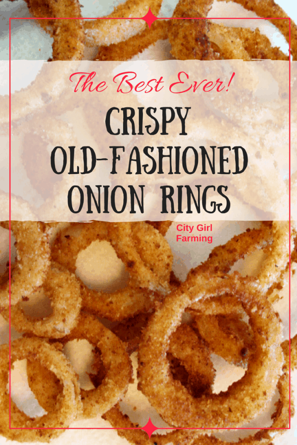 Make yourself some good old fashioned, crispy onion rings with real ingredients!
