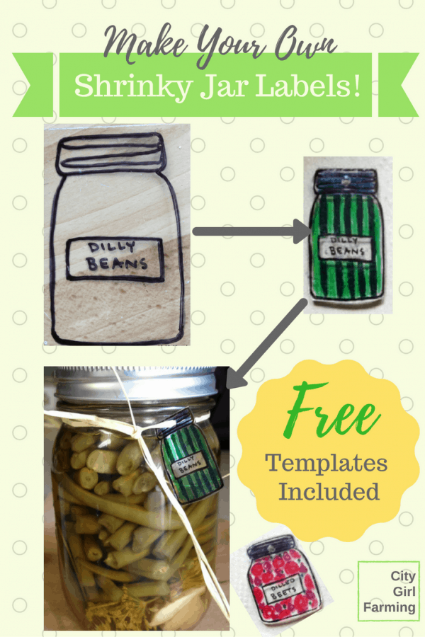 Three cute ways to label your home canned jars with free templates to make it simple! City Girl Farming