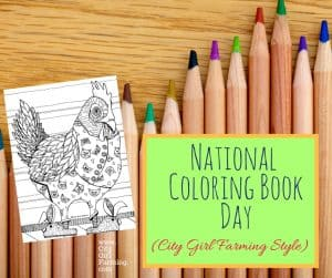 National Coloring Book Day (Chicken Style)