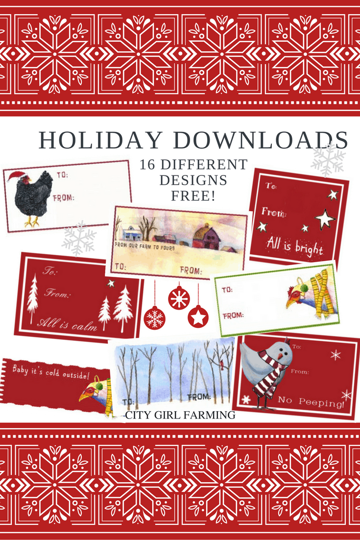 Loads of Downloadable Chicken Holiday Printables