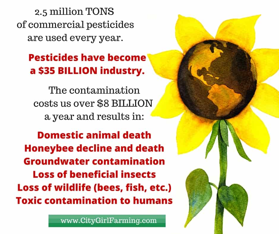 2.5 million TONS of commercial pesticides