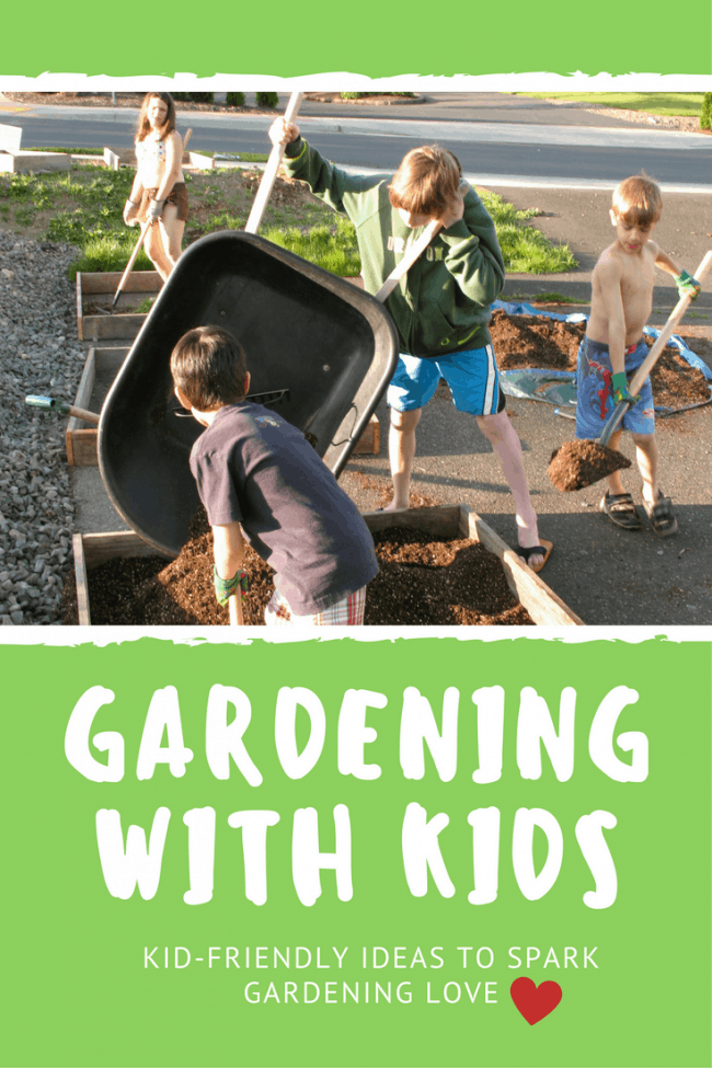 Planting themed-gardens with kids is a great way to get them excited about gardening!