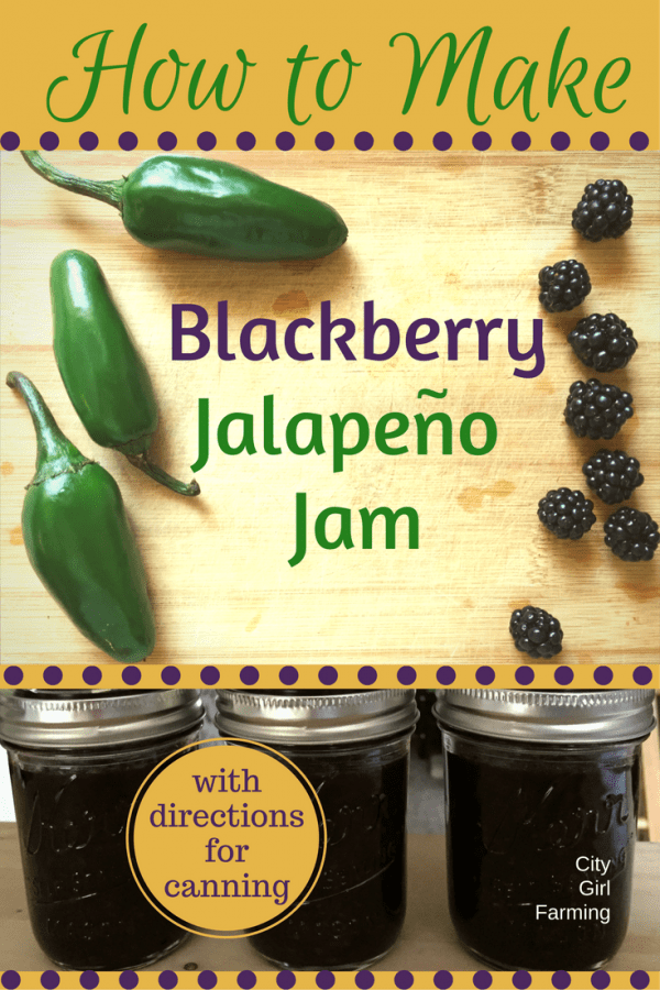 Blackberry Jalapeno Jam is a nice twist on the old fruit jam. A little kick and jalapeno flavor makes it great for meats, sauces and dips.