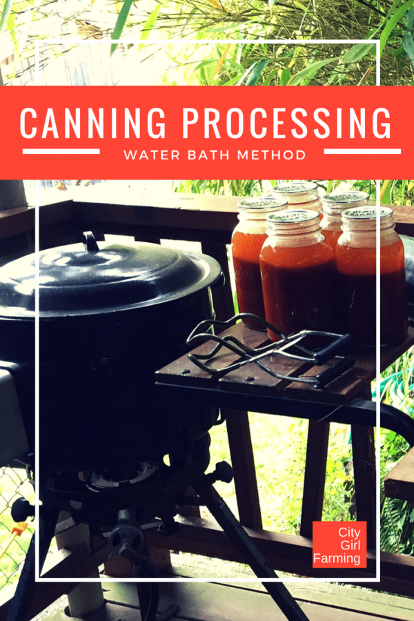 Learn canning processing for water bath method...it's easy to do and fun and satisfying too | City Girl Farming