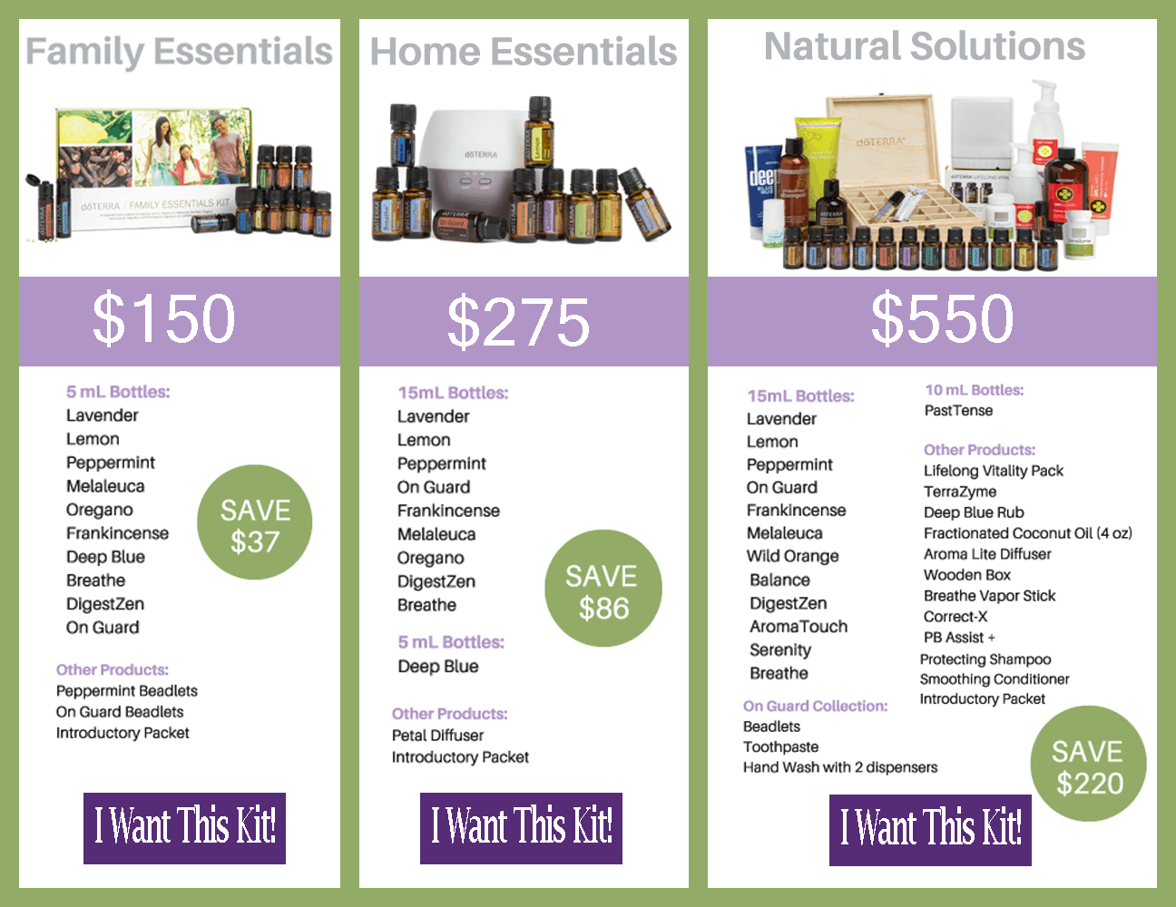 Save money with doTERRA enrollment kits!