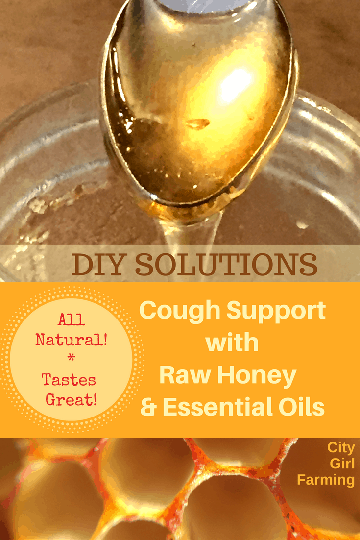 Honey and essential oils provide all natural support to your body during the germy winter season! Stop that cough in it's tracks! (and it tastes good too!)
