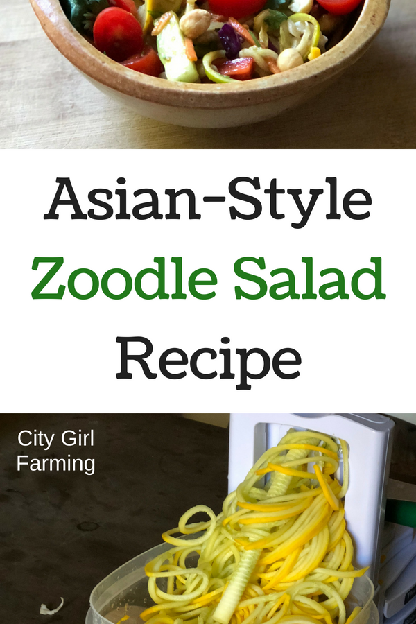 This Asian zoodle salad is my go-to all summer while the zucchinis are plentiful. It will make you sad when the flood of zucchini season is over. It's that good.