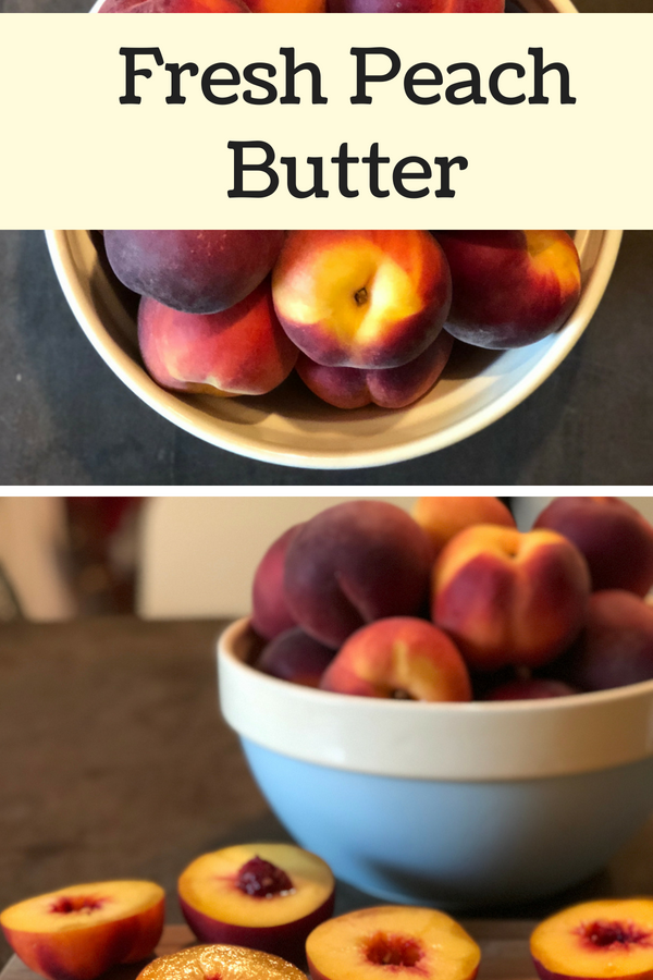 Have you wanted to try making fruit butter but thought it seemed too hard or didn't want to deal with all that peeling? You're in luck. This simple no-peel fresh peach butter is easy to make and tasty! And the best part? You don't have to PEEL anything! I made mine with honey to sweeten and cinnamon and ginger to spice it up, but you can personalize it completely to your own tastes.
