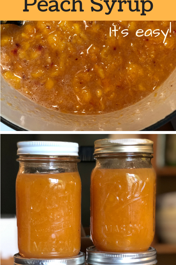 How to Make Fresh Peach Syrup (with Canning Option)