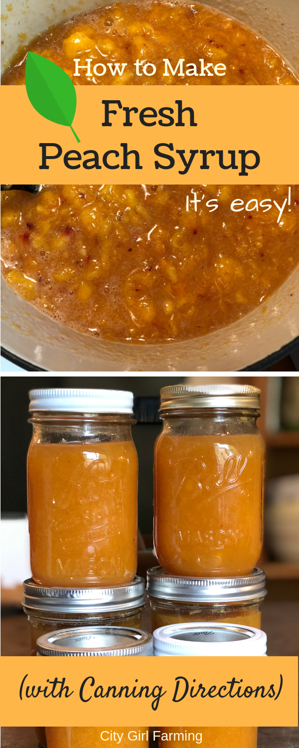 Would you like to learn how to make fresh peach syrup (and even can some if you want to)? It's easy. And tastes like sweet, late summer sunshine in a jar. What's better than that?
