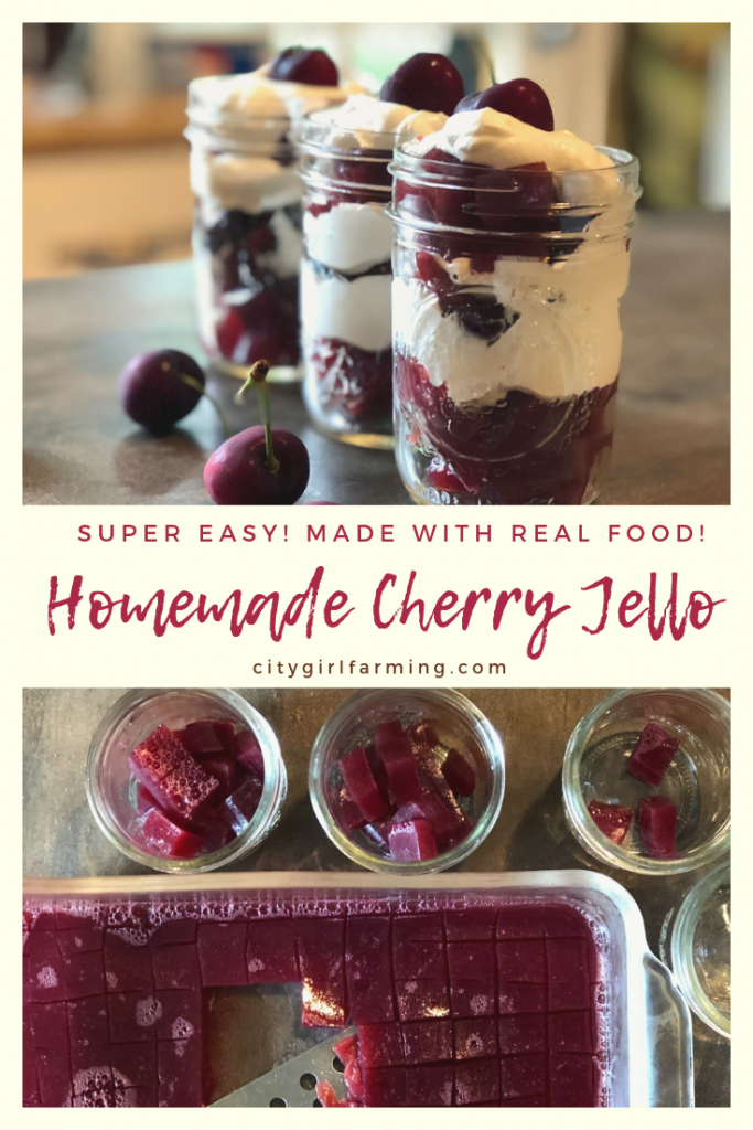 Make your own from scratch fresh cherry jello made with real food ingredients. It's a treat that's actually good for you. And it's easy to make!