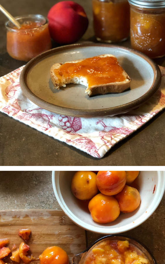 The mix of sweet nectarines, honey and pumpkin spices make this jam Divine! So good and easy to make!